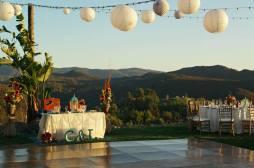San Diego Wedding venue backdrop view